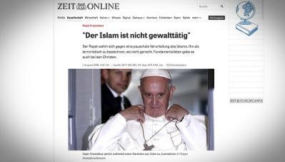 20160801_Papez-Frantisek-Islam-neni-nasilnicky